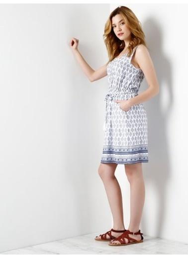 Askılı Desenli Elbise-Colin's